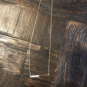 White and gold bar necklace
